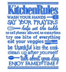 Kitchen Rules Coats embroidery design