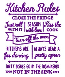 Follow The Kitchen Rules embroidery design