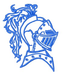 Knight Mascot Outline embroidery design