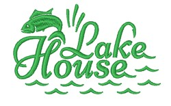 Lake House embroidery design