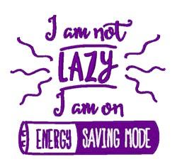 On Energy Saving Mode embroidery design