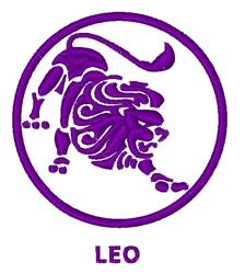 Zodiac Leo Symbol embroidery design