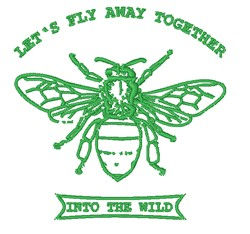Lets Fly Away Together embroidery design
