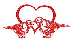 Love Birds Outline embroidery design