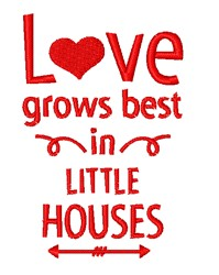 Love In Little Houses embroidery design