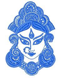 Hindu Princess Outline embroidery design