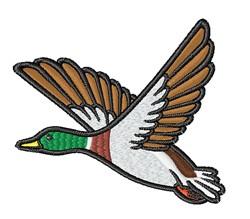 Flying Mallard embroidery design