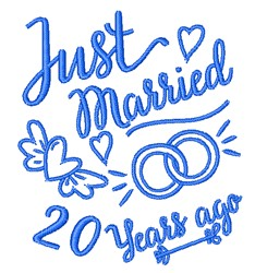 Married 20 Years Ago embroidery design