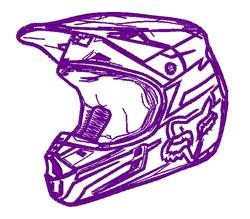 Realistic Motocross Helmet embroidery design