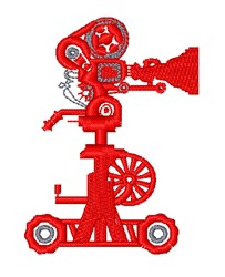 Movie Camera On Dolly embroidery design