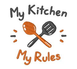 Cartoon Kitchen Rules embroidery design