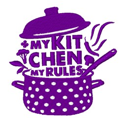 Kitchen Rules Pot embroidery design