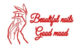 Beautiful Nails Good Moods embroidery design