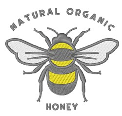 Natural Organic Honey embroidery design