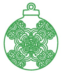 Christmas Ornament Outline embroidery design