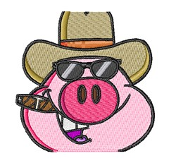 Boss Hog embroidery design