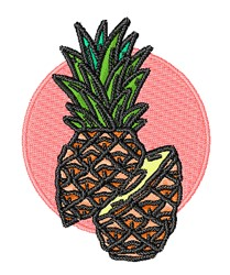 Sliced Pineapple embroidery design