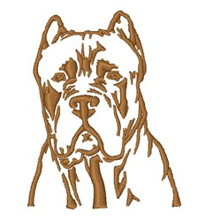 Pitbull Outline embroidery design