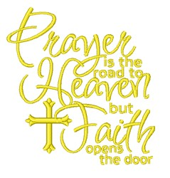 Faith Opens The Door embroidery design