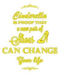 Shoes Can Change Life embroidery design
