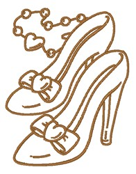 High Heels & Necklace embroidery design