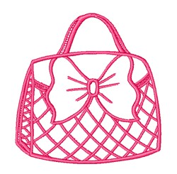 Pink Purse Outline embroidery design