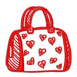 Valentine Hearts Purse Outline embroidery design