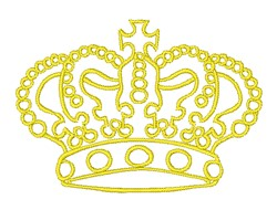 Jeweled Crown Outline embroidery design