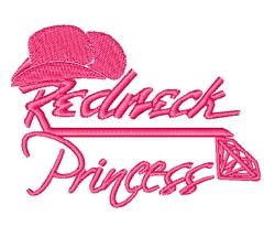 Redneck Princess embroidery design