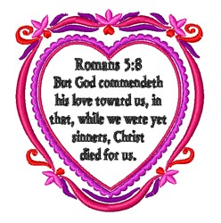 Romans 5:8 embroidery design