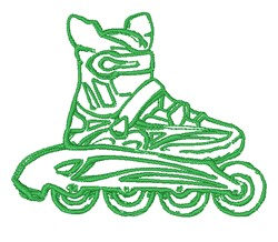 Inline Skate Outline embroidery design