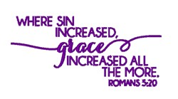 Romans 5:20 Verse embroidery design
