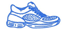 Tennis Shoe Outline embroidery design