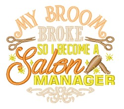 Salon Manager Humor embroidery design