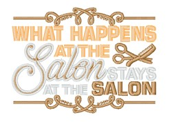 What Happens At The Salons embroidery design