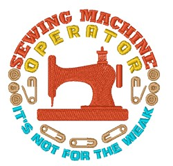 Sewing Machine Operator embroidery design