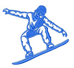Snowboarder Outline embroidery design