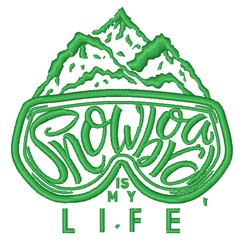 Snowboard Is My Life embroidery design