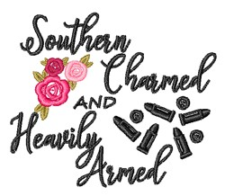 Southern Charmed Heavily Armed embroidery design