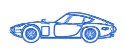 Race Car Outline embroidery design