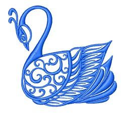Embellished Swan Outline embroidery design