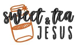 Sweet Tea & Jesus embroidery design