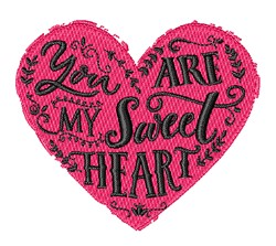 You Are My Sweetheart embroidery design