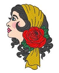 Gypsy Woman Profile embroidery design