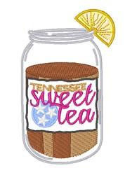 Tennessee Sweet Tea embroidery design
