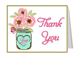 Thank You Card embroidery design