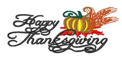 Happy Thanksgving embroidery design