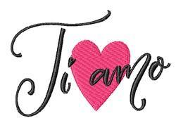 Ti Amo embroidery design