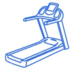 Treadmill Outline embroidery design