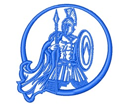 Roman Soldier Mascot Outline embroidery design